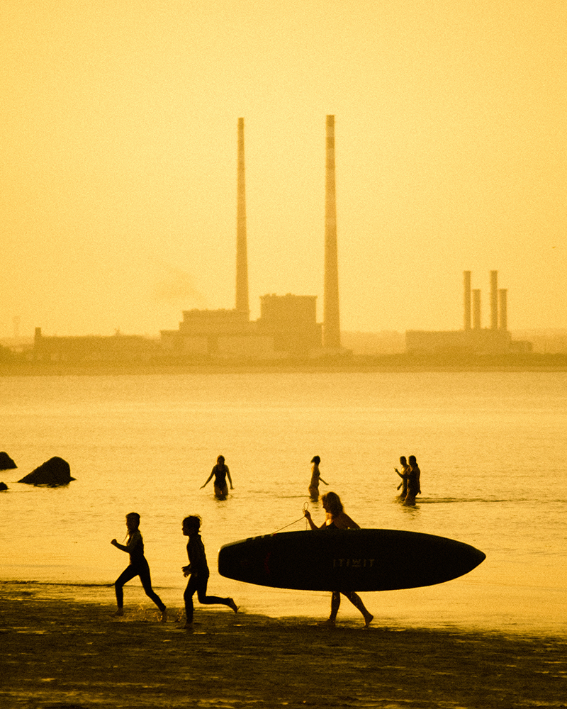 Nels Ambrose - poolbeg chimneys County Dublin - We Love Ireland